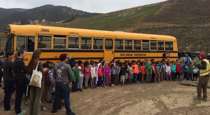 Landfill Tour Bus And Kids