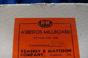 Vintage Asbestos Millboard picture by Asbestorama at http://www.flickr.com/photos/asbestos_pix/4310329981/in/set-72157614455320652/
